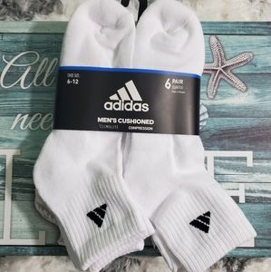 Adidas cushioned climate compression 6 pair